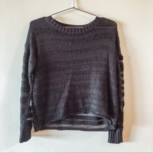 Black Striped Sheer Sweater